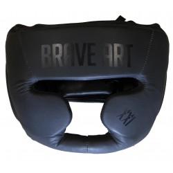 Casque Protection en Cuir Brave Art